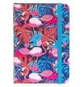 Jazzy Lined Notebook - Small flamingo